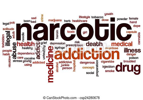 Narcotic word cloud - csp24280678
