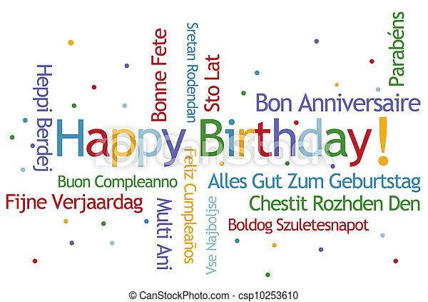 narozeniny, šťastný - csp10253610