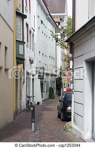 narrow alley with old bui - csp1253344