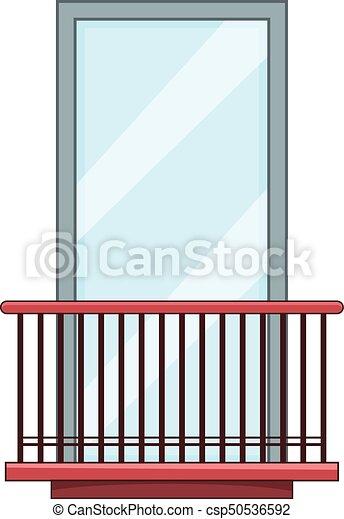 Narrow balcony icon cartoon style narrow balcony icon for Balcony cartoon