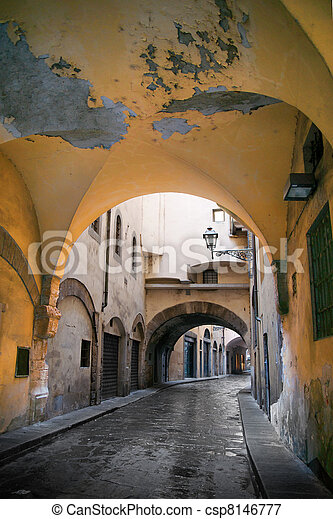Narrow street in Florence - csp8146777