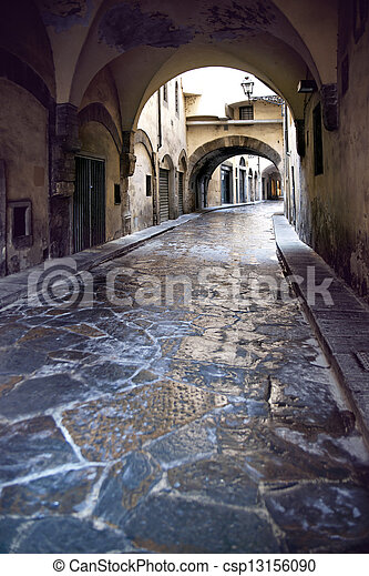 narrow street in Florence - csp13156090