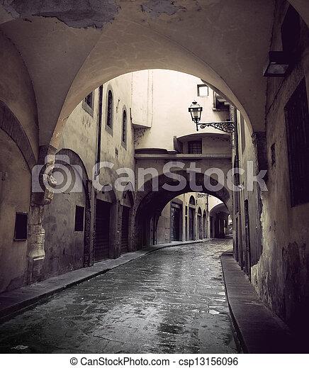 Narrow street in Florence - csp13156096