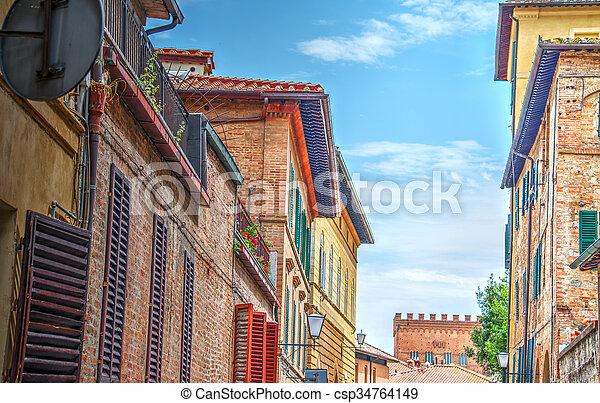 narrow street in Siena - csp34764149