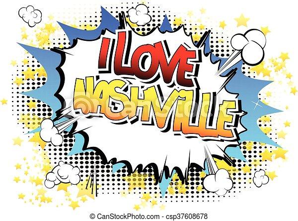 Me encanta Nashville - csp37608678