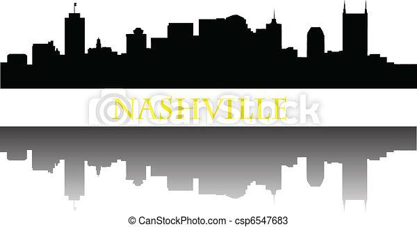 Nashville skyline - csp6547683