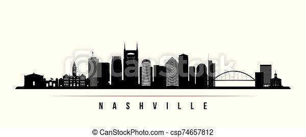 Nashville skyline horizontal banner. - csp74657812