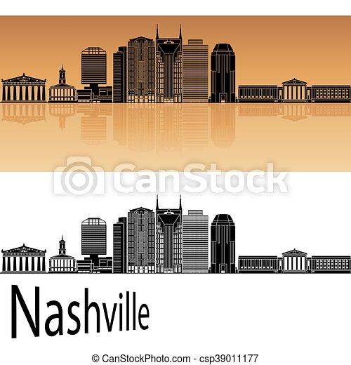 Nashville skyline - csp39011177