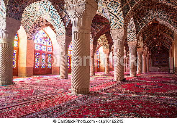 Nasir al-Mulk mosque, Shiraz, Iran - csp16162243