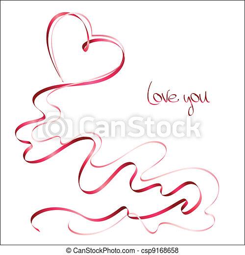nastri, giorno, scheda, valentine - csp9168658