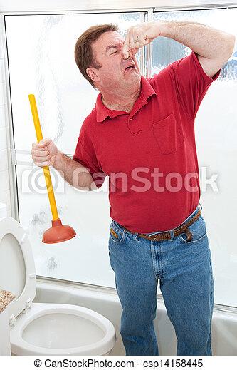 Nasty Bathroom Job - csp14158445