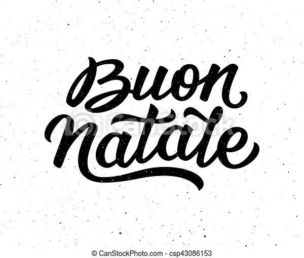 Carta de Buon Natalie. Feliz Navidad en italiano - csp43086153
