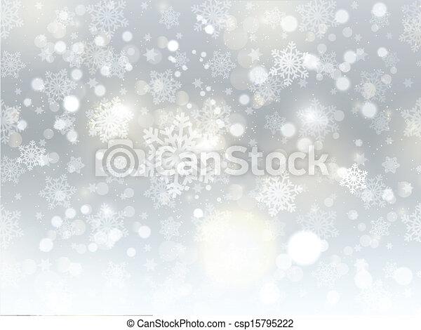 natale, fondo, fiocco di neve - csp15795222