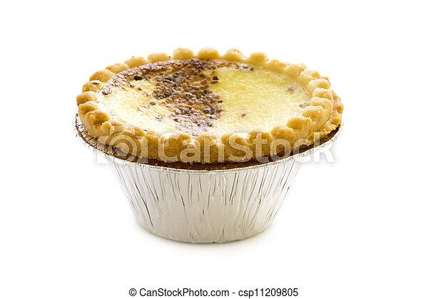 Pudín inglés de crema de huevo - csp11209805