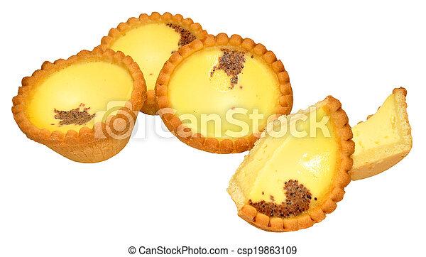 Tartas de crema de huevo - csp19863109