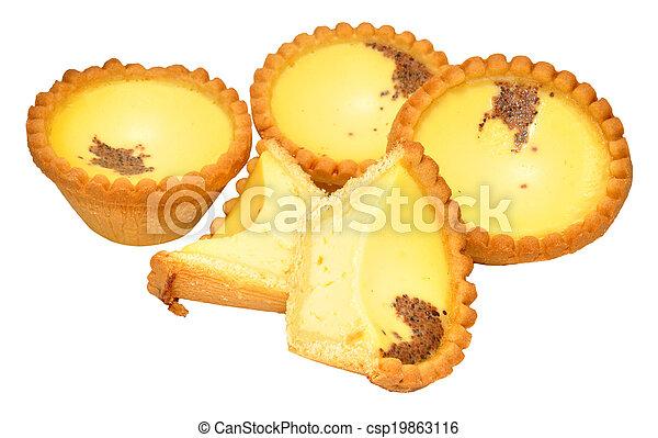 Tartas de crema de huevo - csp19863116