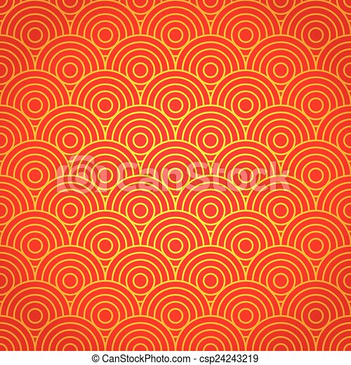 National Chinese Seamless Pattern New Year 2015 Bright Beautiful Vector Illustration Background