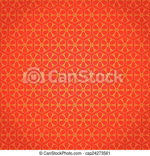 National Chinese Seamless Pattern With Flowers New Year 2015 Bright Beautiful Vector
