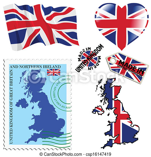 national colours of United Kingdom - csp16147419