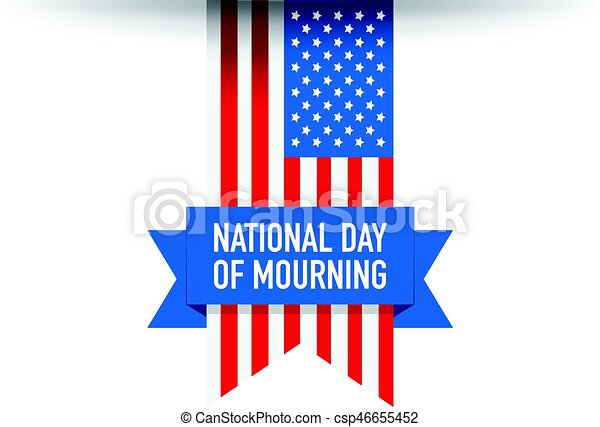 National day of mourning flag - csp46655452