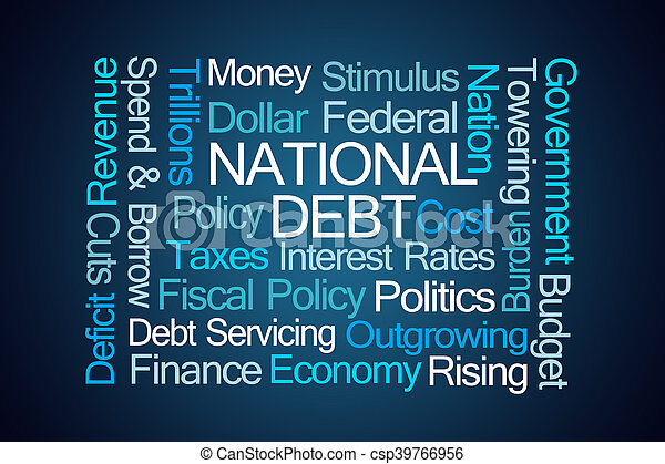 National Debt Word Cloud - csp39766956