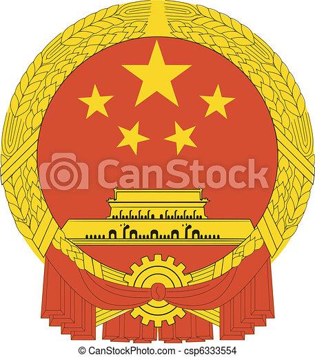 national emblem of China - csp6333554