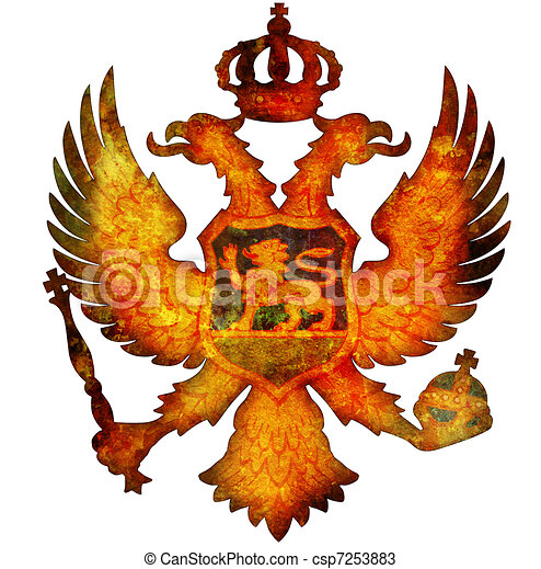 national emblem of montenegro - csp7253883