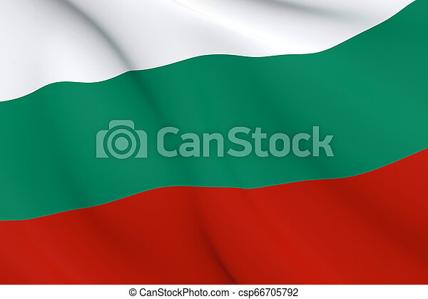 National Fabric Wave Close Up Flag of Bulgaria - csp66705792