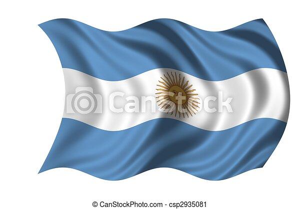 National Flag Argentina - csp2935081