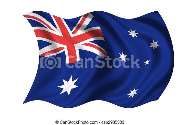 National Flag Australia - csp2935083