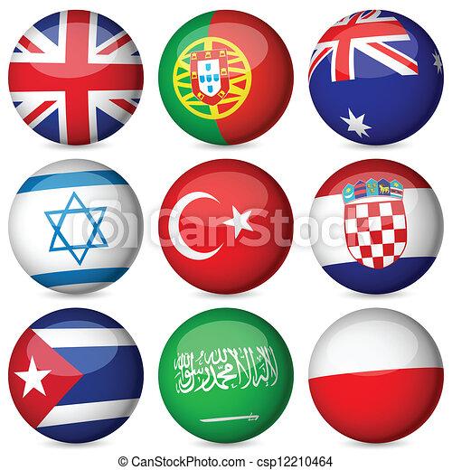 national flag ball set - csp12210464