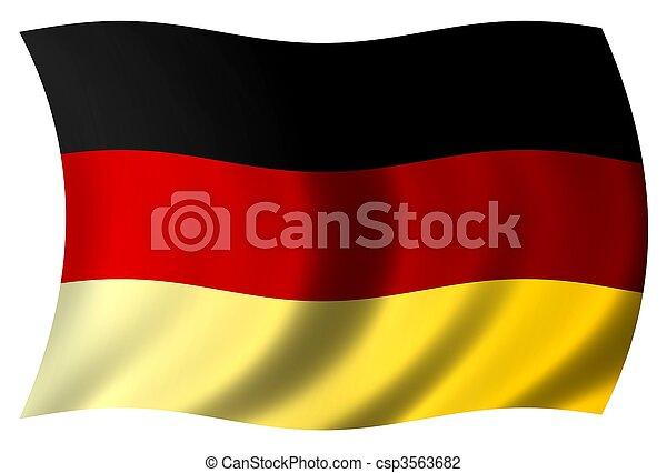 National Flag Germany - csp3563682