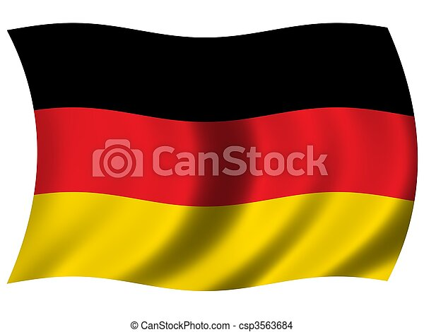National Flag Germany - csp3563684