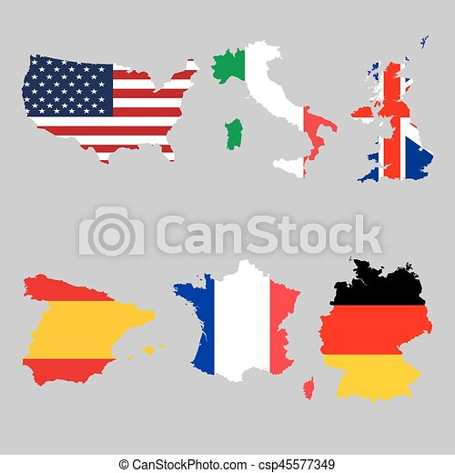 national flag maps - csp45577349