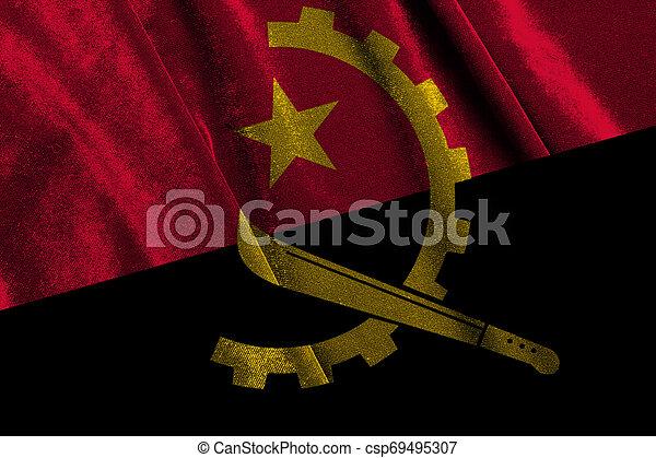 National flag of angola - csp69495307