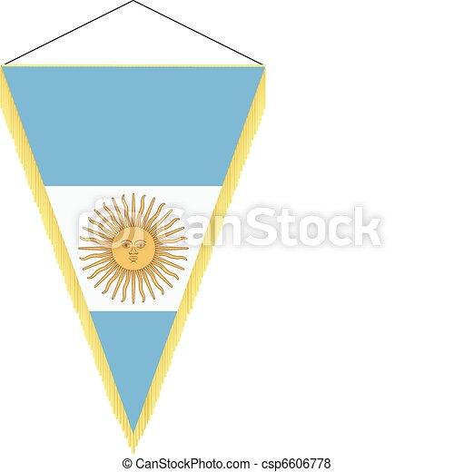 national flag of Argentina - csp6606778