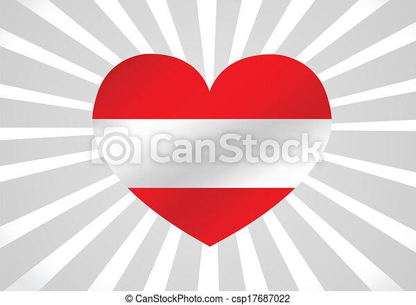 National flag of Austria themes des - csp17687022
