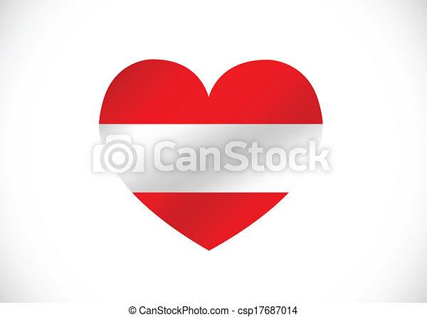 National flag of Austria themes des - csp17687014