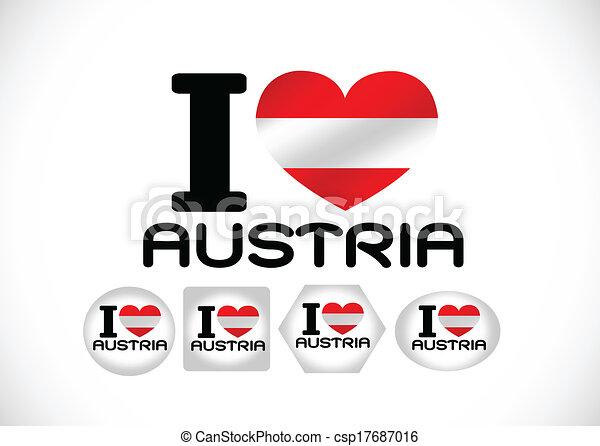 National flag of Austria themes des - csp17687016