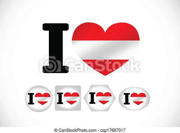 National flag of Austria themes des - csp17687017
