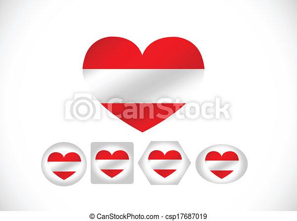 National flag of Austria themes des - csp17687019