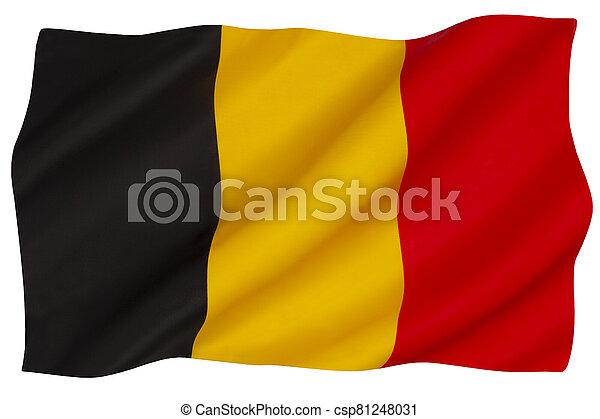 National flag of Belgium - csp81248031