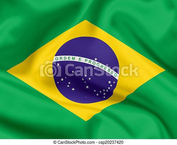 National flag of Brazil - csp20237420