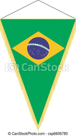 national flag of Brazil - csp6606780