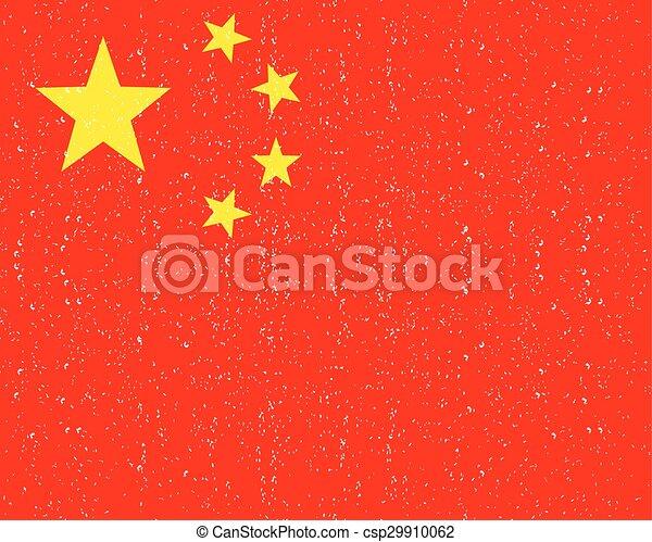 National flag of China - csp29910062