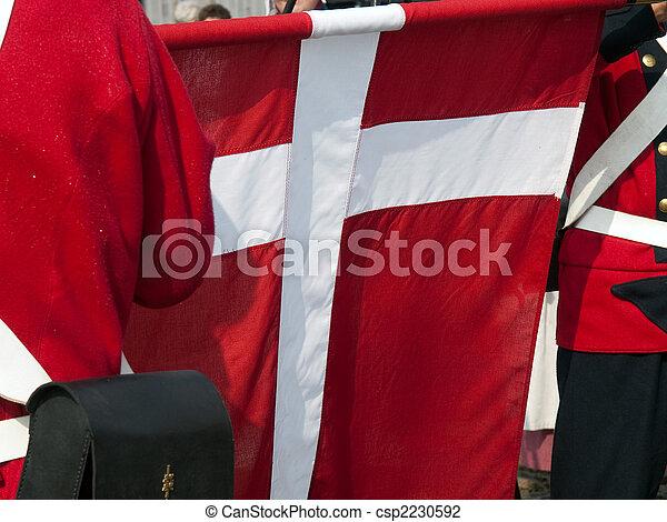 National flag of Denmark - csp2230592