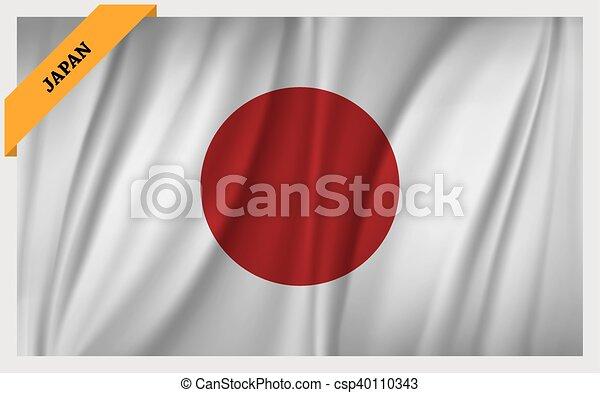 National flag of Japan - csp40110343
