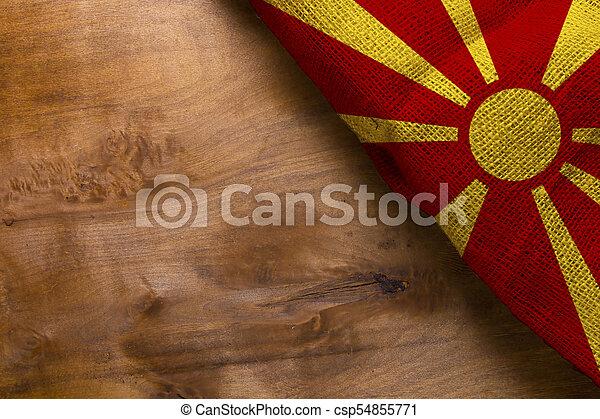 National flag of Macedonia - csp54855771