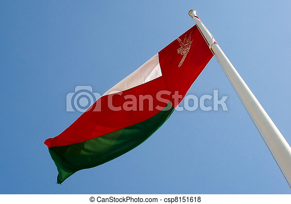 National Flag of Oman - csp8151618