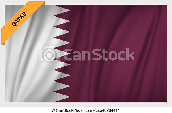 National flag of Qatar - csp40234411